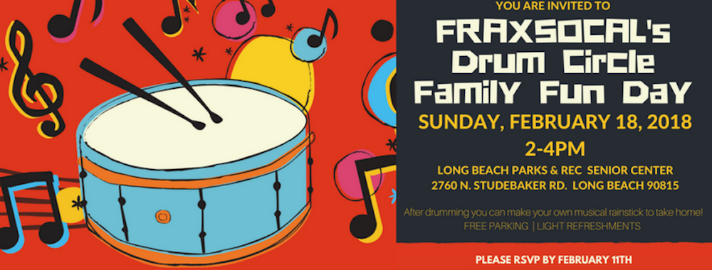 Drum Circle Family Fun Day! Feb. 18, 2018